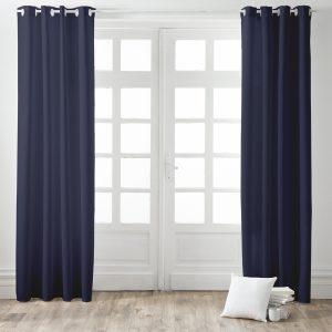 Kant en Klaar Gordijn Verduisterend Donkerblauw - 140cm x 260cm