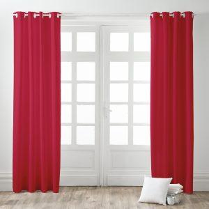 Kant en Klaar Gordijn Verduisterend Rood - 140cm x 260cm