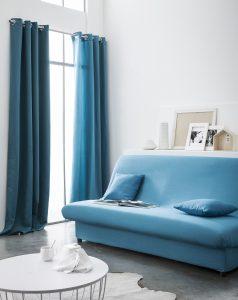 Kant en Klaar Gordijn Blauw - 140cm x 260cm