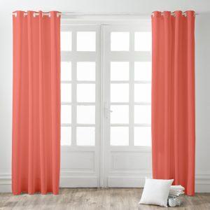 Kant en Klaar Gordijn Koraal Roze - 140cm x 260cm