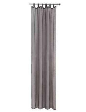 Gordijn Toledo - antraciet - 280x135 cm (1 stuk) - Leen Bakker